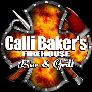 This is the restaurant logo for Calli Baker's Firehouse Bar & Grill