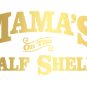 This is the restaurant logo for Mama's On The Half Shell