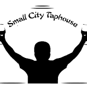 This is the restaurant logo for Small City Taphouse