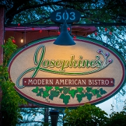 This is the restaurant logo for Josephine's Modern American Bistro