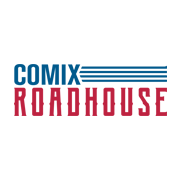 This is the restaurant logo for Comix Roadhouse