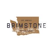 This is the restaurant logo for Brimstone PNW Smokehouse