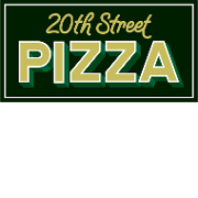This is the restaurant logo for 20th Street Pizza