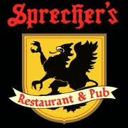 This is the restaurant logo for Sprecher's Restaurant & Pub