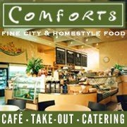This is the restaurant logo for Comforts