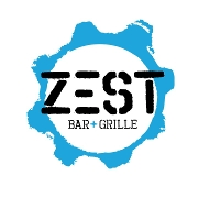 This is the restaurant logo for ZEST bar+grille