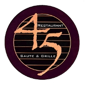 This is the restaurant logo for Restaurant 45