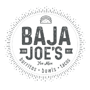 This is the restaurant logo for Baja Joe's Tex-Mex Bistro