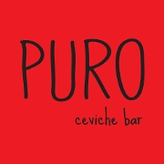 This is the restaurant logo for PURO ceviche bar