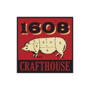 This is the restaurant logo for 1608 Crafthouse