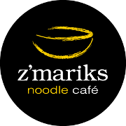 This is the restaurant logo for Z'Mariks Noodle Cafe