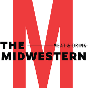 This is the restaurant logo for Midwestern Meat & Drink