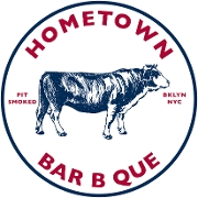 This is the restaurant logo for Hometown Bar B Que Red Hook