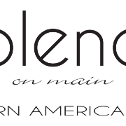 This is the restaurant logo for Blend On Main