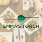 This is the restaurant logo for Emma's Torch
