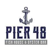 This is the restaurant logo for Pier 48 Indy