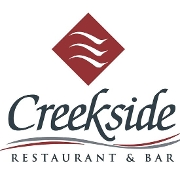 This is the restaurant logo for Creekside Restaurant & Bar