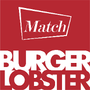 This is the restaurant logo for MATCH BURGER LOBSTER