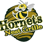 This is the restaurant logo for Hornet's Nest Grille