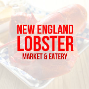 This is the restaurant logo for New England Lobster Market & Eatery