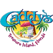 This is the restaurant logo for Caddy's Treasure Island