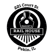 This is the restaurant logo for Maquet's Rail House