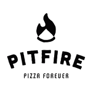 This is the restaurant logo for Pit Fire Pizza