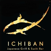 This is the restaurant logo for Ichiban Sushi Bar & Grill