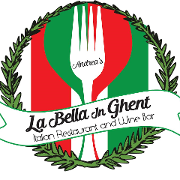 This is the restaurant logo for La Bella in Ghent