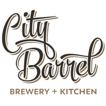 This is the restaurant logo for City Barrel Brewery + Kitchen