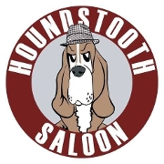 This is the restaurant logo for Houndstooth Saloon