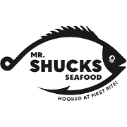 This is the restaurant logo for Mr. Shuck's Seafood