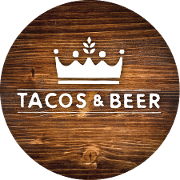 This is the restaurant logo for Tacos & Beer