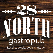 This is the restaurant logo for 28 North Gastropub