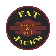 This is the restaurant logo for Fat Jack's Sports Bar & Grill