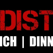 This is the restaurant logo for The District Marketplace