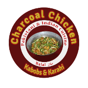 This is the restaurant logo for Charcoal Chicken Restaurant