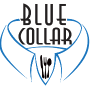 This is the restaurant logo for Blue Collar
