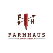 This is the restaurant logo for Farmhaus Burgers