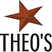 This is the restaurant logo for Theo's Steakhouse