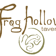 This is the restaurant logo for Frog Hollow Tavern