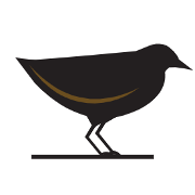 This is the restaurant logo for Black Rail Kitchen + Bar