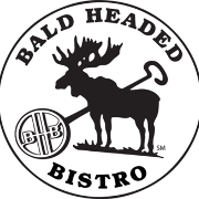 This is the restaurant logo for Bald Headed Bistro