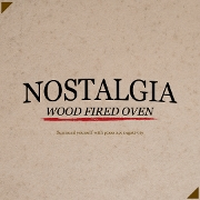 This is the restaurant logo for Pizza Nostalgia Wood Fired Oven
