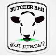 This is the restaurant logo for Butcher Bar