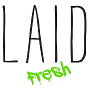 This is the restaurant logo for Laid Fresh