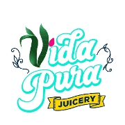 This is the restaurant logo for Vida Pura Juicery