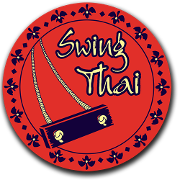 This is the restaurant logo for Swing Thai