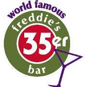 This is the restaurant logo for 35er Bar