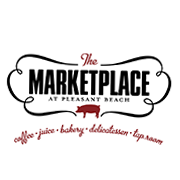 This is the restaurant logo for The Marketplace and Bottle Shop